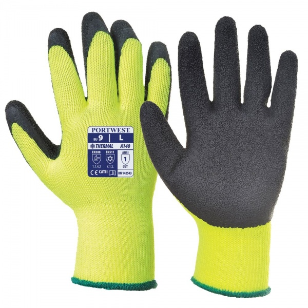 Portwest A140 Hi Viz Thermal Grip Gloves