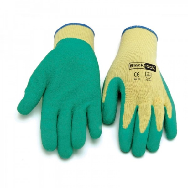 50 Pairs Blackrock 85000 latex crinkle finish gripper gloves Special Offer!