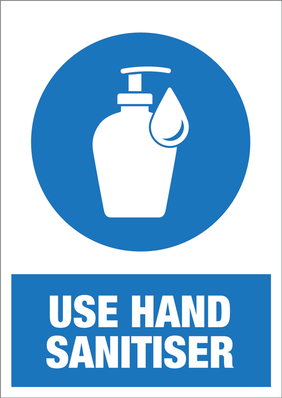 A5 Use Hand Sanitiser Self Adhesive Notice - 5 Pack