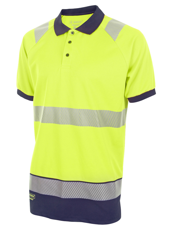 HIVIS Two Tone Polo Shirt YELLOW / NAVY
