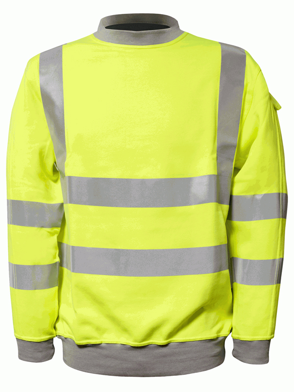 BASOV: Inherent FR ARC Sweatshirt in Hi Viz Yellow