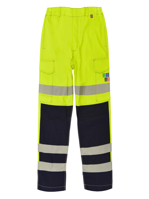 SILICON: Inherent FR ARC Hi Viz Combat Trouser Two Tone With FR Tapes