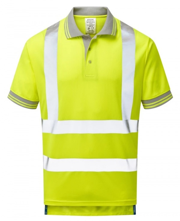 Pulsar P175 Hi Vis Short Sleeve Rail Spec Polo - Yellow