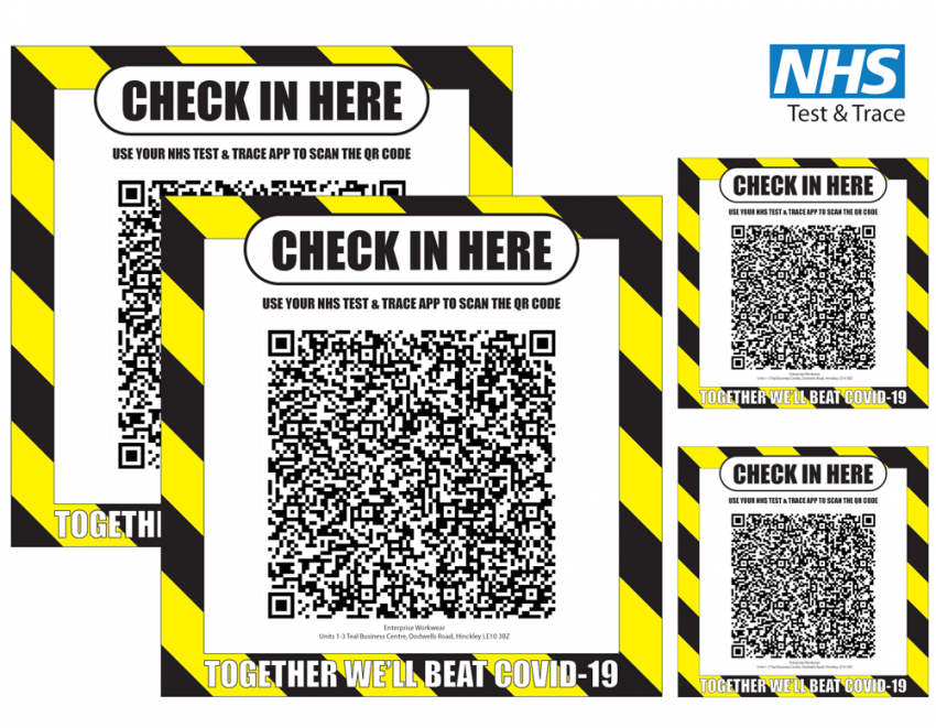 Test & Trace 'Check-In' Notice QR Code