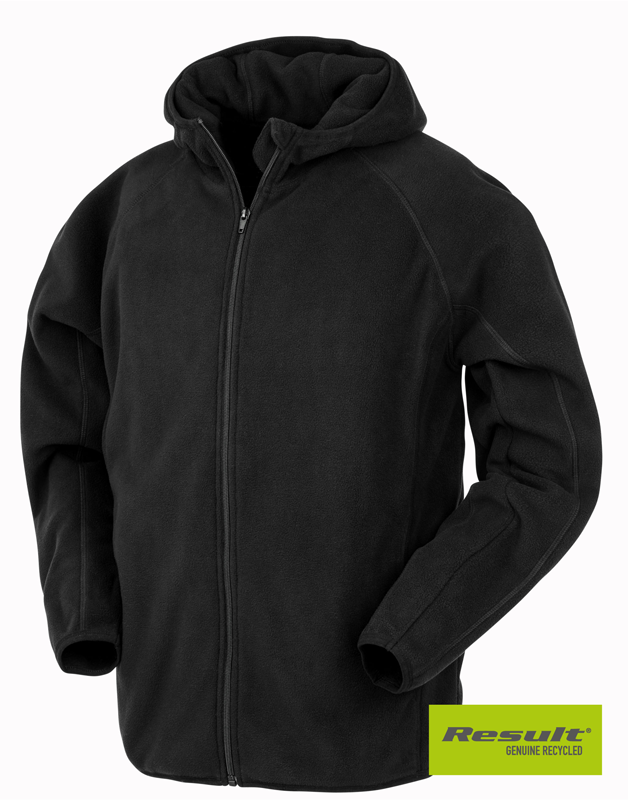 R906X Recycled Unisex Hooded Microfleece Jacket