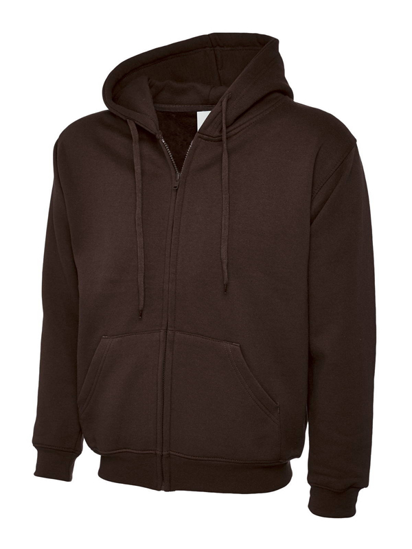 504 Adults Classic Full Zip Hooded Sweatshirt