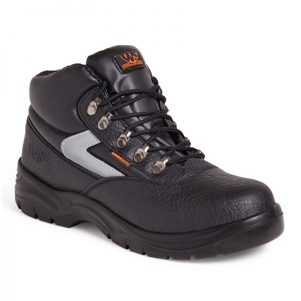 Worksite SS601SM Black Mid Cut Safety Boot