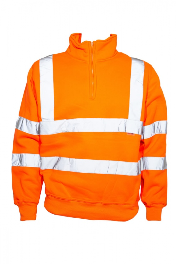 Beeswift Hi vis quarter zip sweatshirt orange