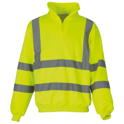 Beeswift Hi vis quarter zip sweatshirt yellow