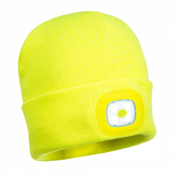 Portwest B029 Hi Viz Beanie with head torch