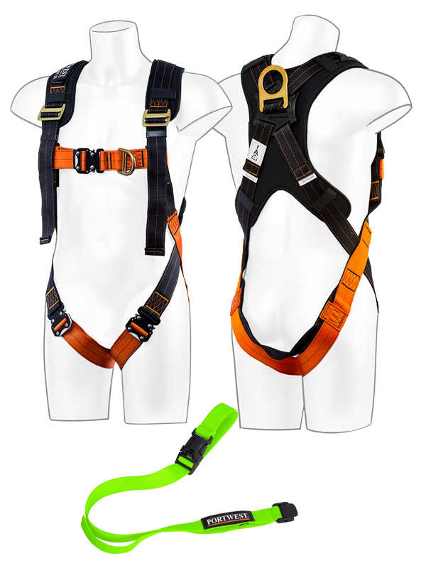 FP72 - Portwest Ultra 2 Point Harness Black/Orange