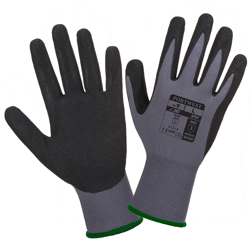 AP62 Dermiflex Aqua Glove - Grey/Black