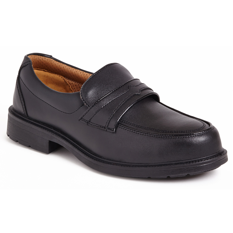CITY KNIGHTS SS503CM Black Casual Slip On Safety Shoe.