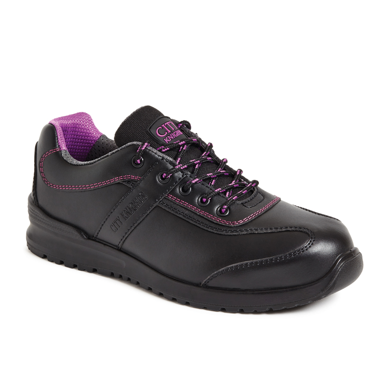 CITY KNIGHTS SS620CM Ladies Black Safety Trainer