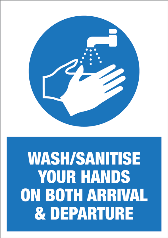 Wash Your Hands Self Adhesive Notice - 5 Pack