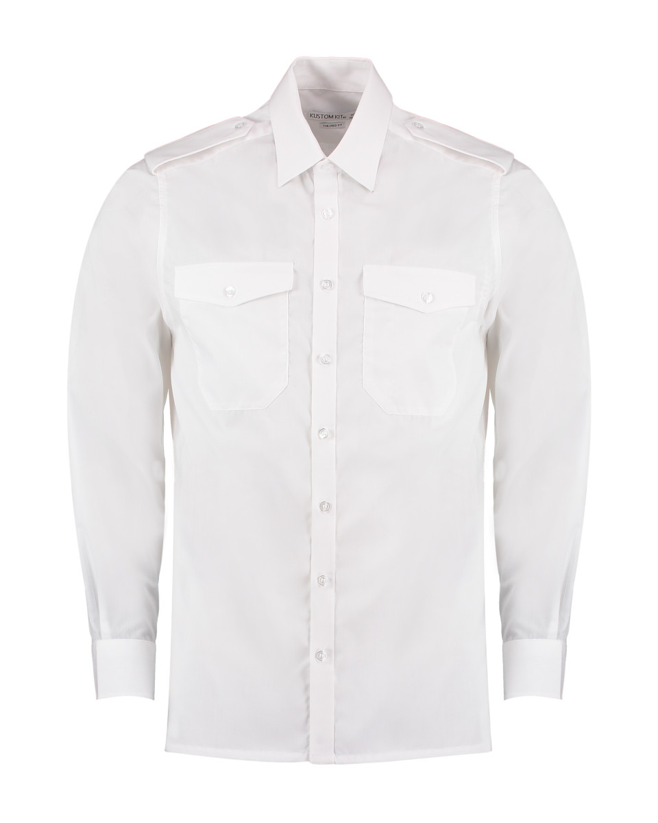 134 Kustom Kit Men's L/S Pilot Shirt