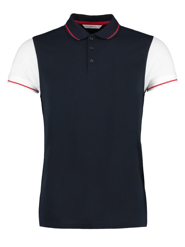 KK415 Fashion Fit Contrast Tipped Polo