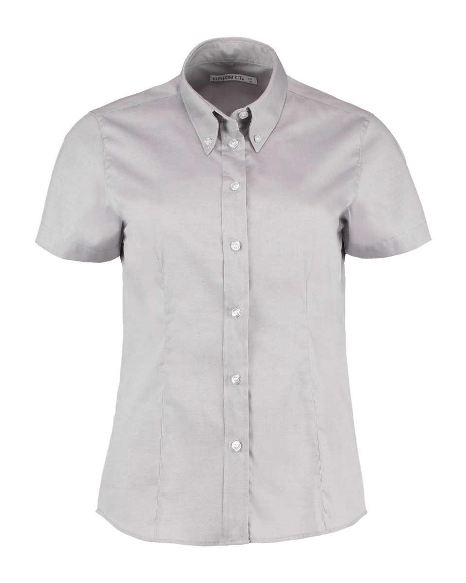 Kustom Kit Ladies S/Sleeve Oxford Shirt