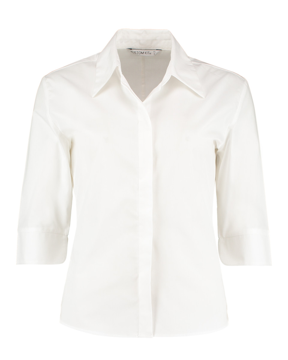 719 Women's Corporate Pocket Oxford Blouse Short Sleeved