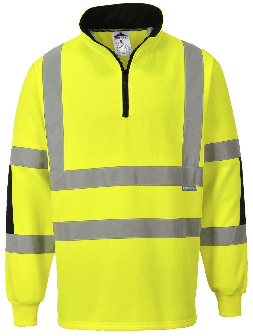 Portwest hi vis rugby shirt yellow