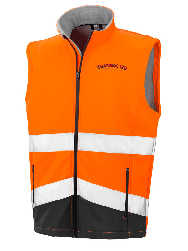 R451 Hi Viz Safety Softshell Gilet