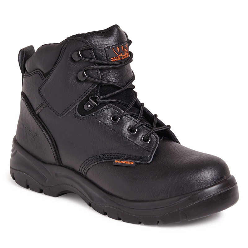 Worksite SS604SM Black Mid Cut Safety Boot
