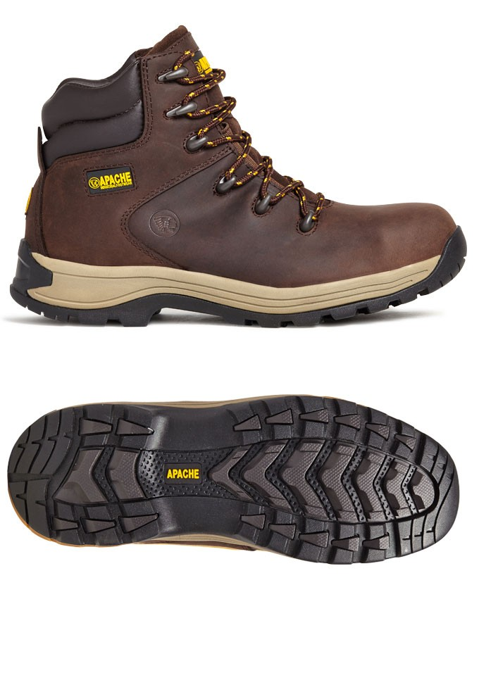 Apache AP315 Work Safety Boot - Brown
