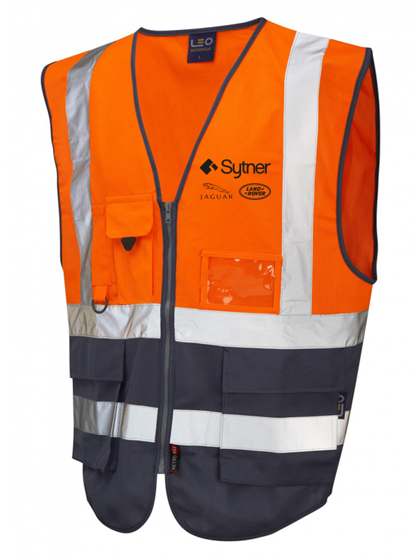 LYNTON ISO 20471 Class 2* Vest - Orange-Navy