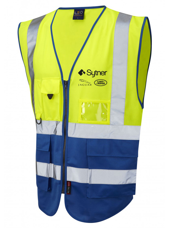 LYNTON ISO 20471 Class 2* Vest - Yellow-Royal Blue