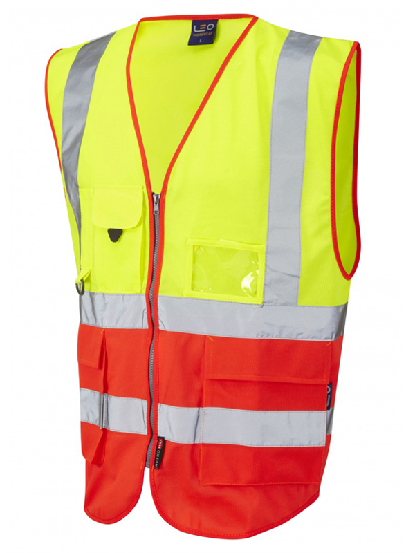 LYNTON ISO 20471 Class 2* Vest - Yellow-Red