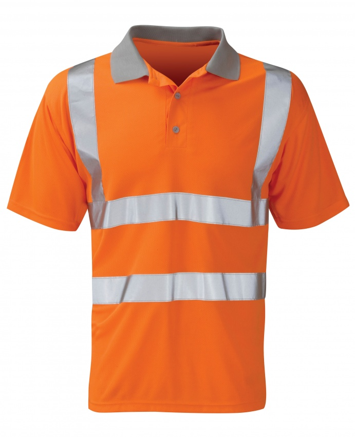 BPKSEN Hi Vis Polo Shirt Orange